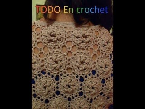 CHALECO ORIGINAL Y ELEGANTE HECHO EN CROCHET MODA Y ESTILO PARTE 2