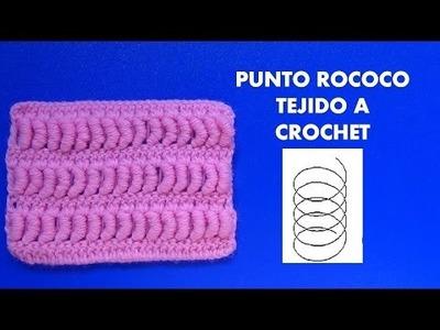Como tejer el punto rococo a crochet paso a paso