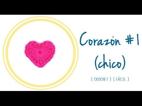 CORAZÓN A CROCHET #1 (chico) | Patrones Valhalla