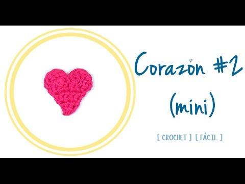 CORAZÓN A CROCHET #2 (mini) | Patrones Valhalla