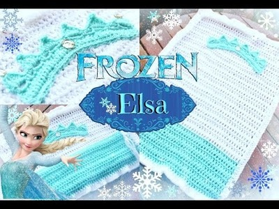 Crochet Cobija: ELSA de FROZEN | Tejiendo Con Erica