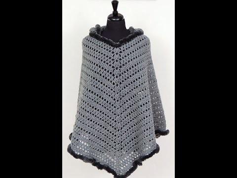 Crochet: Poncho con Capucha. El Gorro