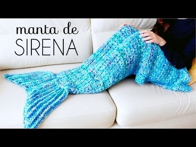 Manta de COLA DE SIRENA a Crochet - tutorial paso a paso (ENGLISH SUBS!)
