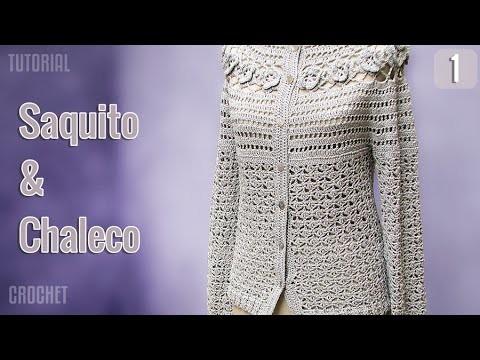Saquito y Chaleco de verano para mujer, tejido a crochet (1 de 3)
