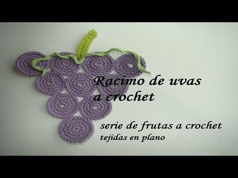 SERIE FRUTAS A CROCHET--- uvas paso a paso-- muy fácil.