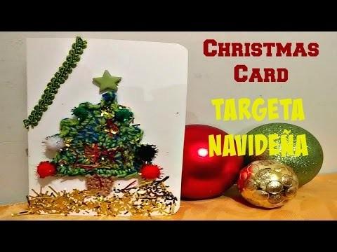 TARJETA DE NAVIDAD (ARBOLITO TEJIDO CON CROCHET)CHRISTMAS CARD
