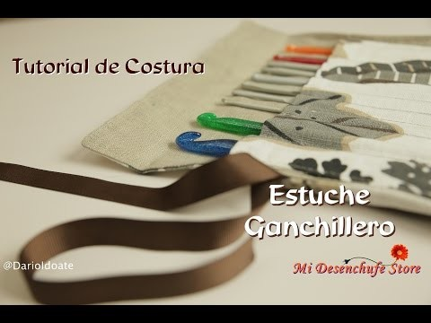 Tutorial #26 - Como hacer un Estuche Ganchillero -  How to make a crochet kit