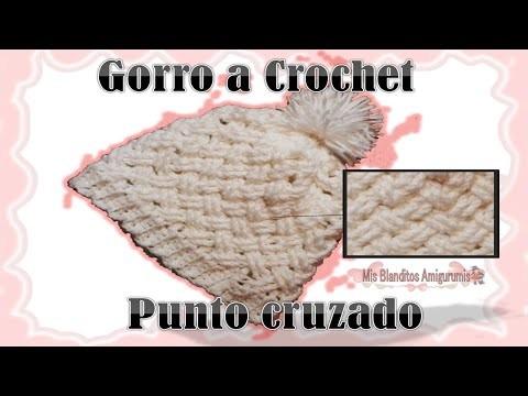 Tutorial Crochet: Gorro a Crochet, punto cruzado