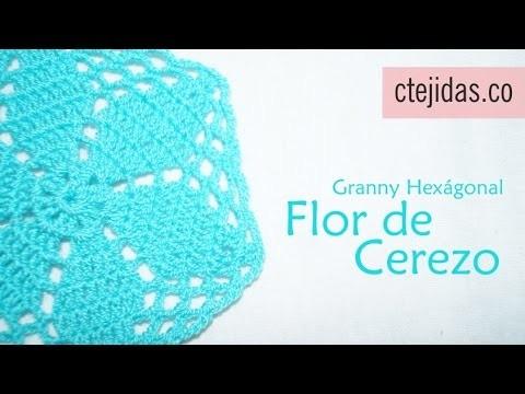 Tutorial Granny Flor de Cerezo a Crochet