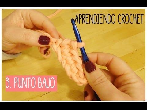 Aprendiendo crochet. 3- Punto Bajo