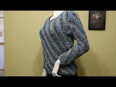 Blusa o Suéter Crochet parte 3 de 3
