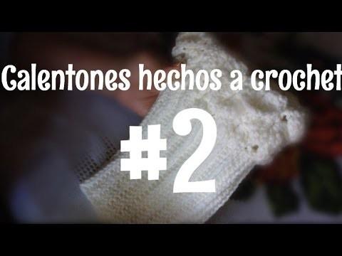 Caletones  hechos a crochet parte #2