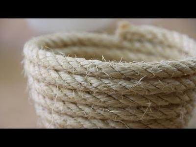 Cómo hacer un cuenco con una cuerda