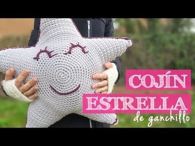 Cómo hacer un cojín ESTRELLA | How to crochet a star cushion
