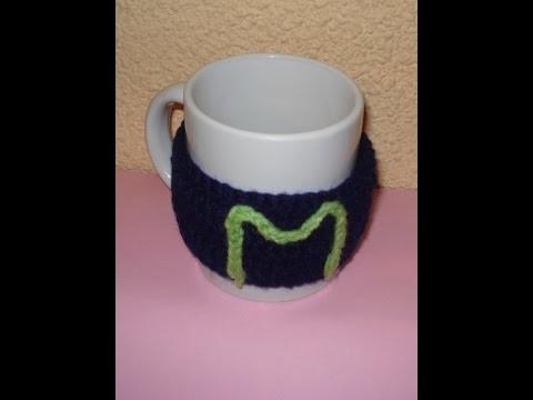 Como hacer una funda para taza a crochet o ganchillo FUNDA PAERSONALIZADA