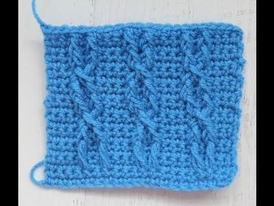 Como tejer cables en crochet