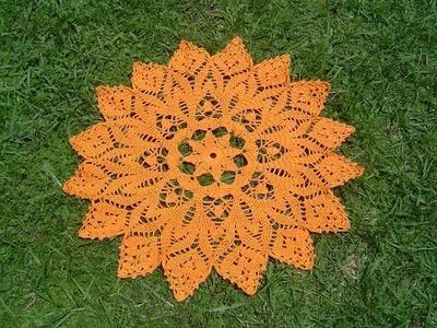 Como tejer centro de mesa a crochet paso a paso 3.4