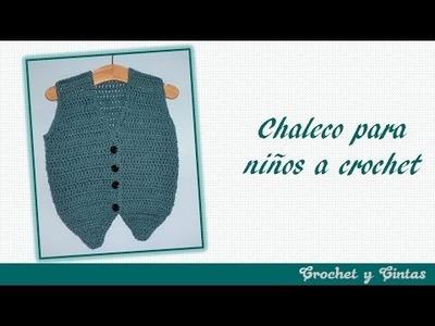 Como tejer chaleco para bebé tejido a crochet