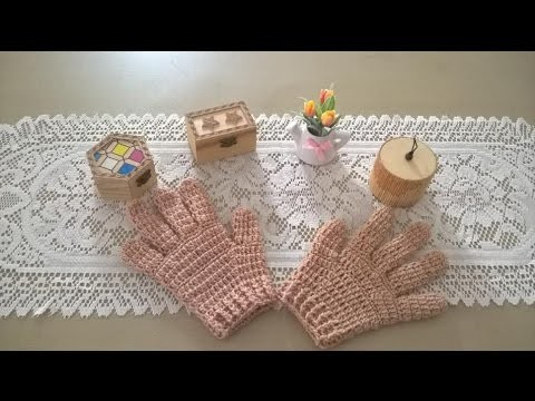 Como tejer guantes en crochet o ganchillo