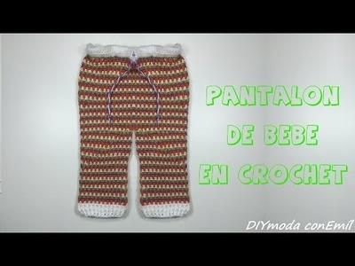 Como tejer pantaloncito de lana en crochet para bebé