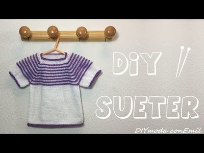 Cómo tejer suéter de niña en dos agujas