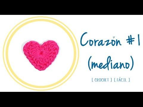 CORAZÓN A CROCHET #1 (mediano) | Patrones Valhalla