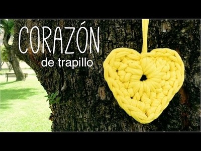 CORAZÓN de trapillo a crochet (ENGLISH SUBS!) - TUTORIAL