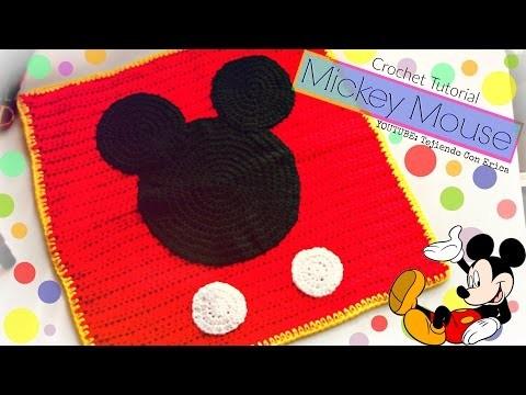 CROCHET COBIJA de Mickey Mouse   Tejiendo Con Erica