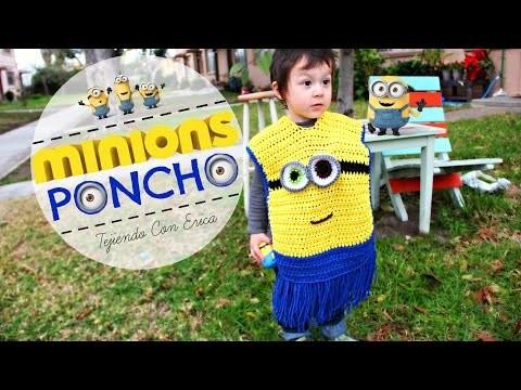 Crochet MINIONS Poncho | Tejiendo Con Erica
