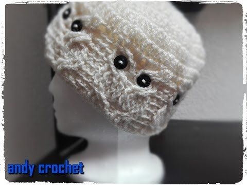 GORRO A #CROCHET CON MOTIVOS DE BUHOS