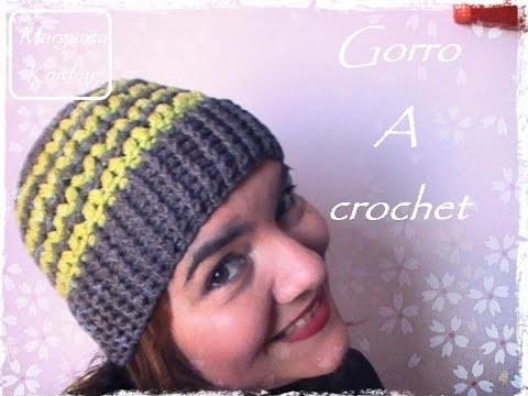 Gorro a crochet (diestro)