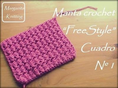 Manta a crochet FreeStyle: cuadro 1 (diestro)