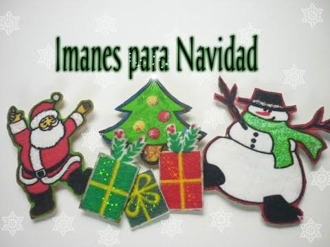 Manualidades para Navidad: COMO hacer IMANES  para NAVIDAD - How to make Christmas magnets