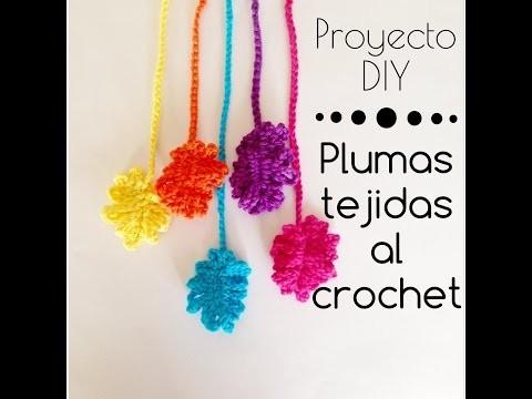 Plumas tejidas al crochet