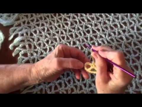 Punto Estrella Sencillo en Crochet