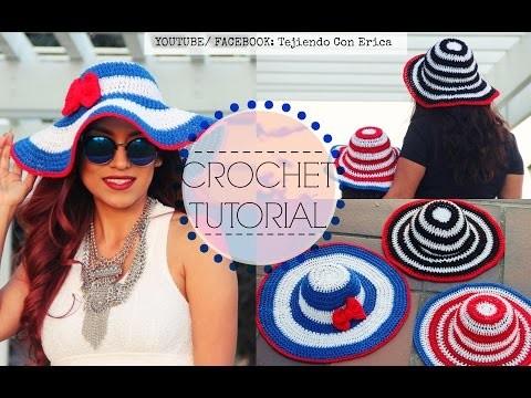 SOMBRERO PARA EL SOL Crochet | Tejiendo Con Erica