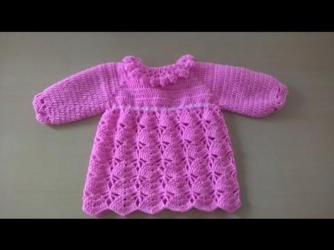 Vestido para bebé: Como hacer vestido para niña en crochet