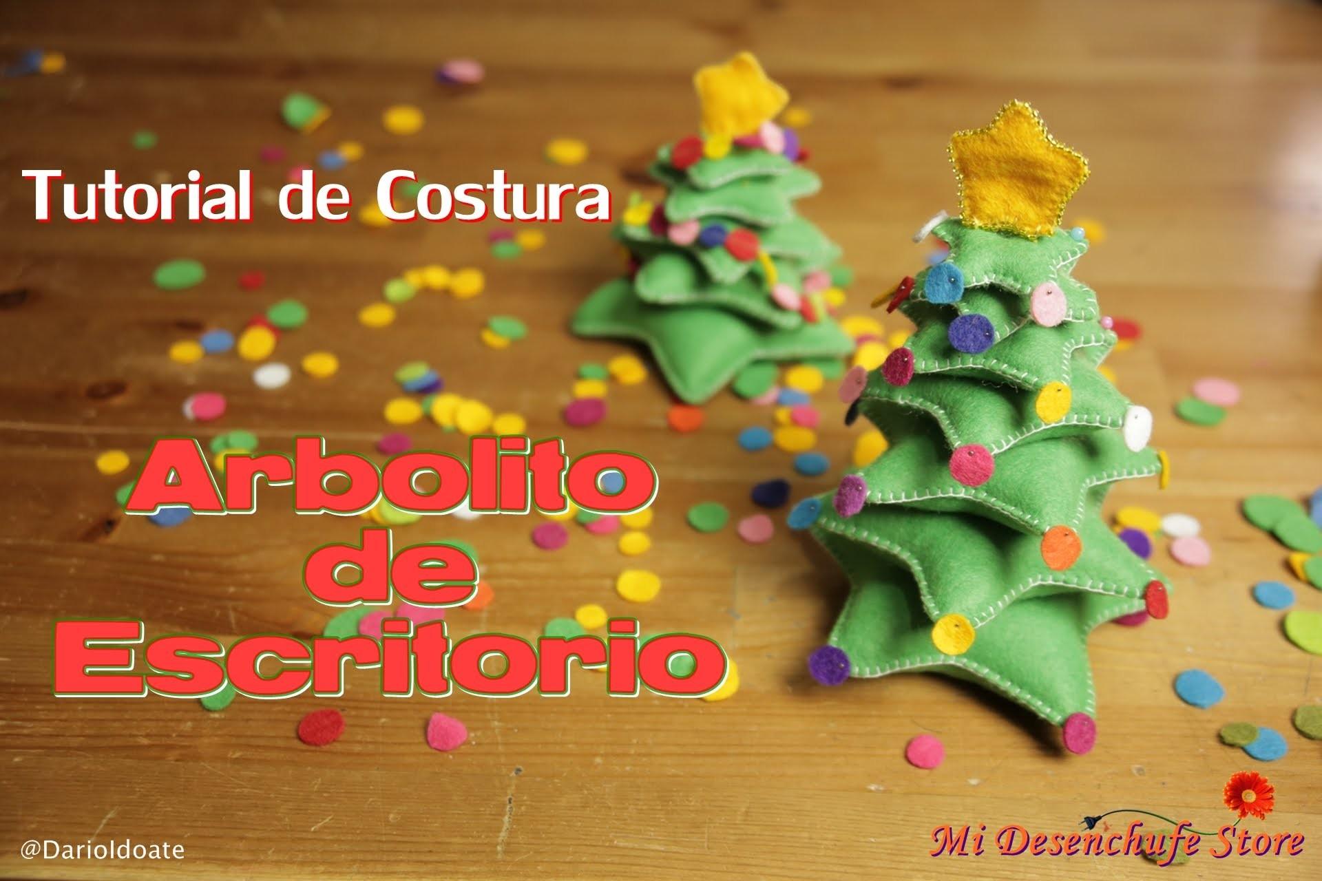 Tutorial #22 - Como hacer un Arbolito de Escritorio 3D - How to make a felt christmas tree