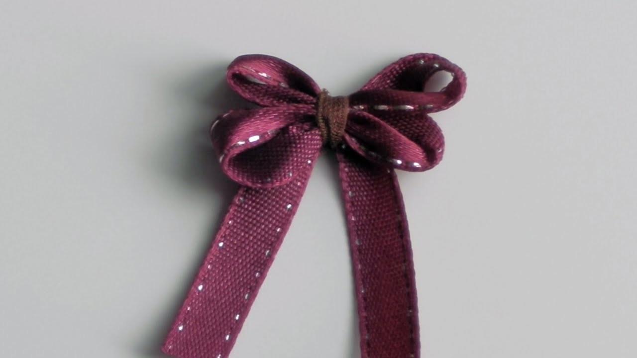 Como hacer un lazo pequeño | How to tie a tiny ribbon bow