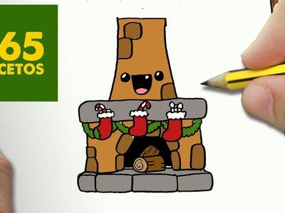 COMO DIBUJAR CHIMENEA PARA NAVIDAD PASO A PASO: Dibujos kawaii navideños - How to draw a chimney