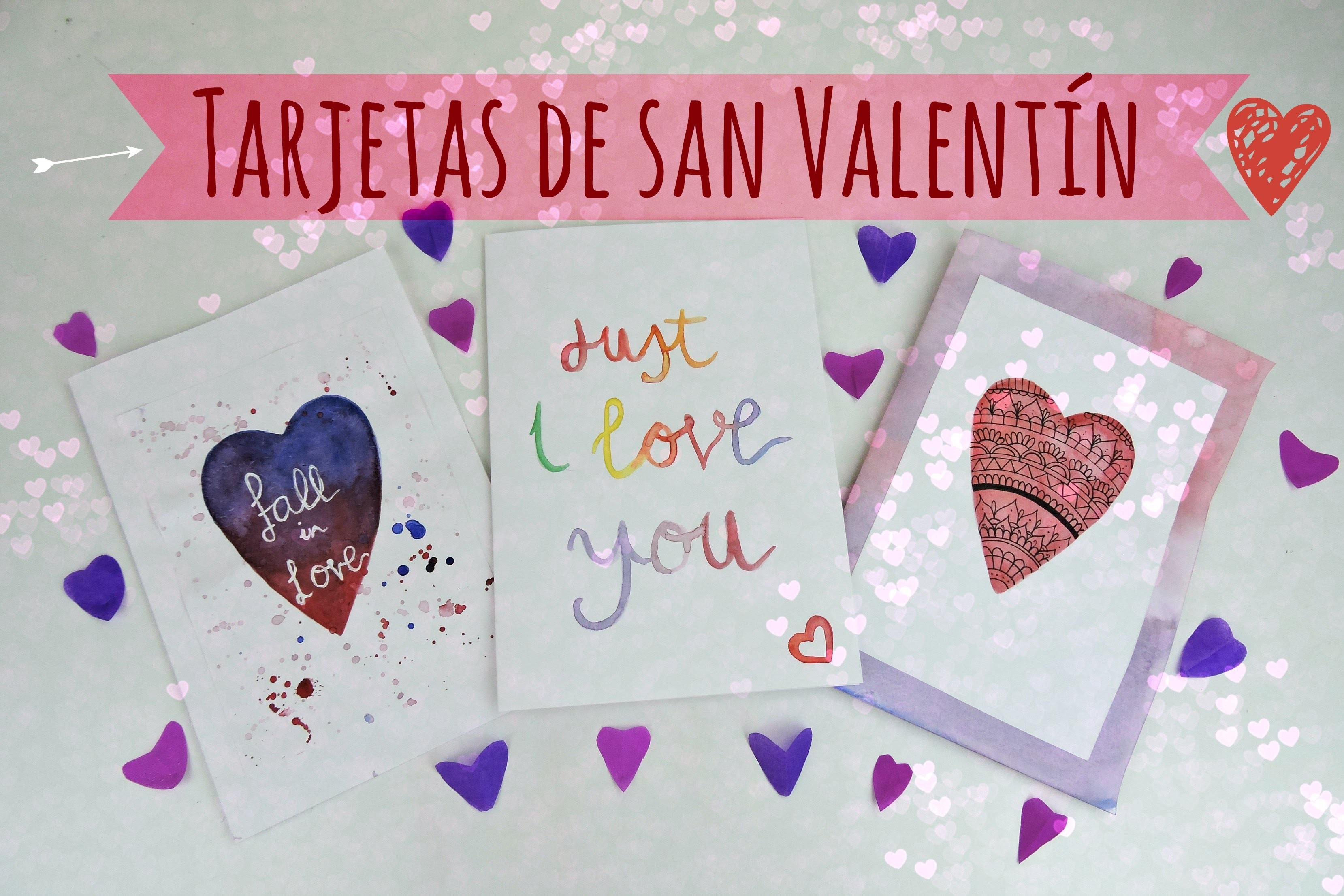 Como hacer tarjetas para san valentín - How to make San Valentine's Day card