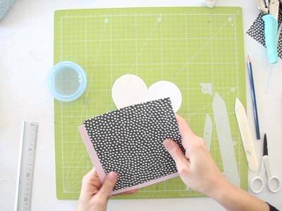 Cómo hacer una tarjeta de San Valentin - Scrapbook TUTORIAL