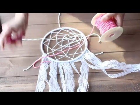 DIY: Como hacer un atrapasueños Blanco | How to make a dream catcher