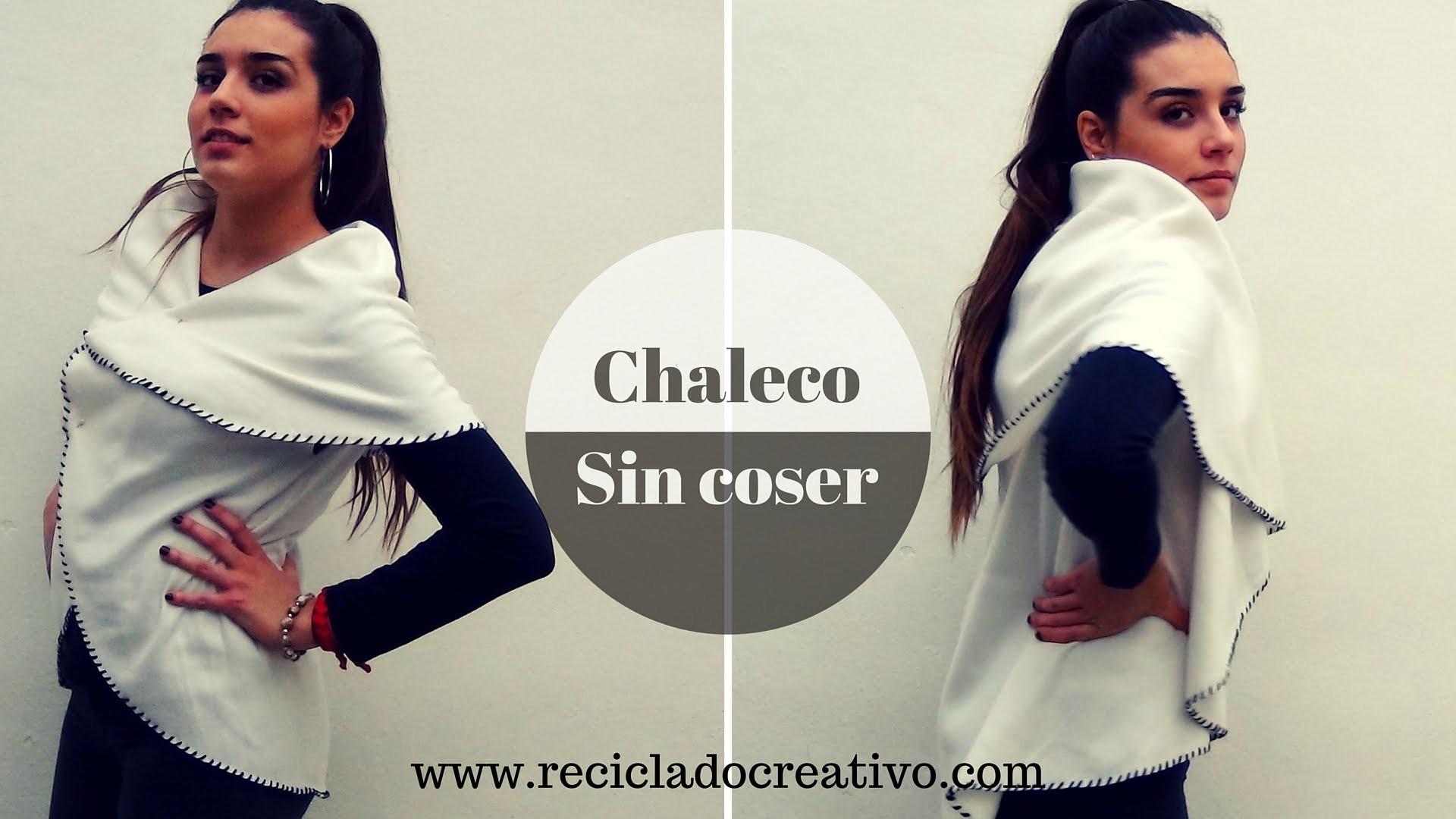 Cómo hacer un elegante chaleco circular sin coser - How to make a Circle Vest No Sew