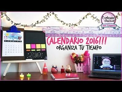 DIY- CALENDARIO 2016, ORGANIZA TU TIEMPO!!