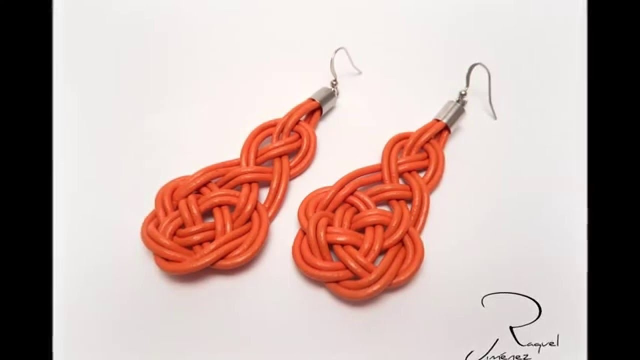 Como hacer pendientes nudo celta. how to make earrings with Celtic knots