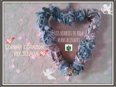 Como hacer una corona de corazón fácil y económica. How to make easy and quick Valentines Wreaths