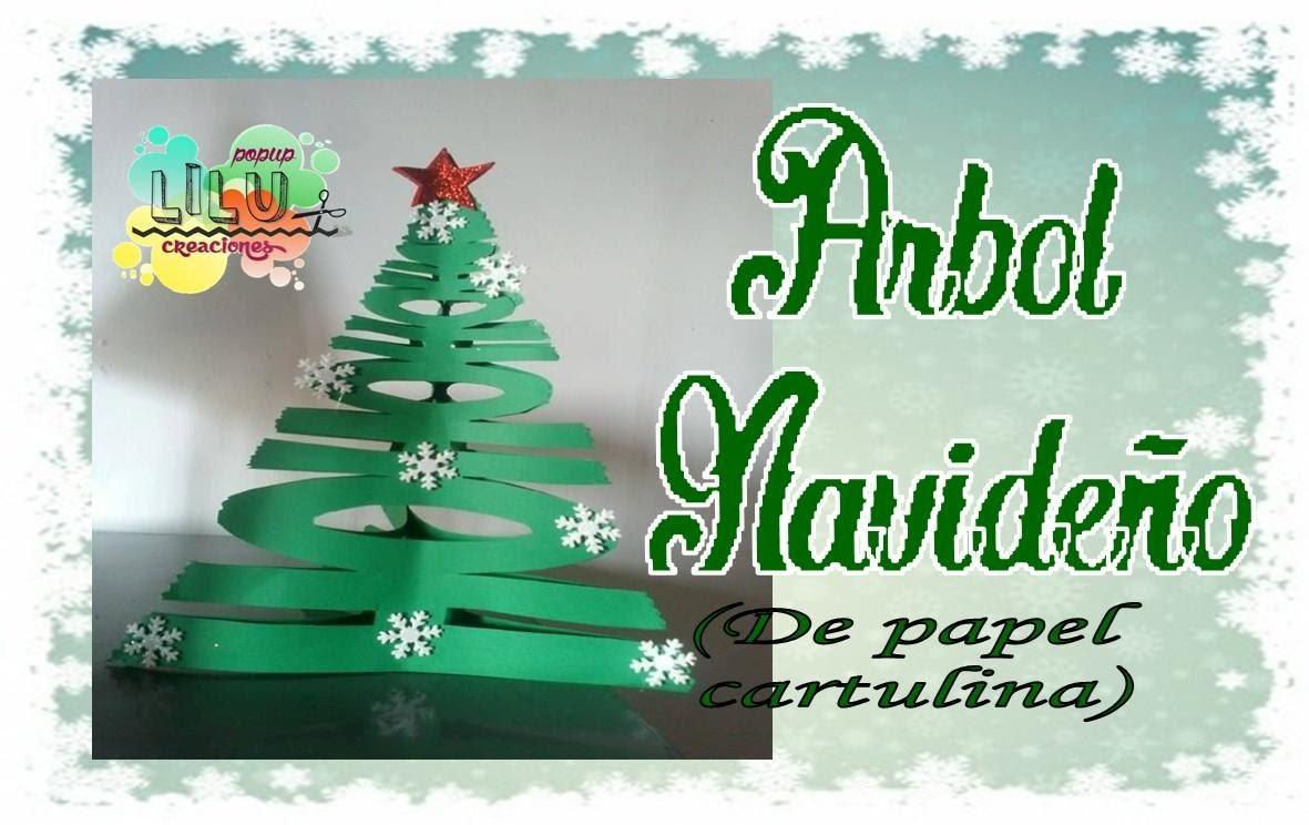 Arbol navideño de papel Tree Christmas paper
