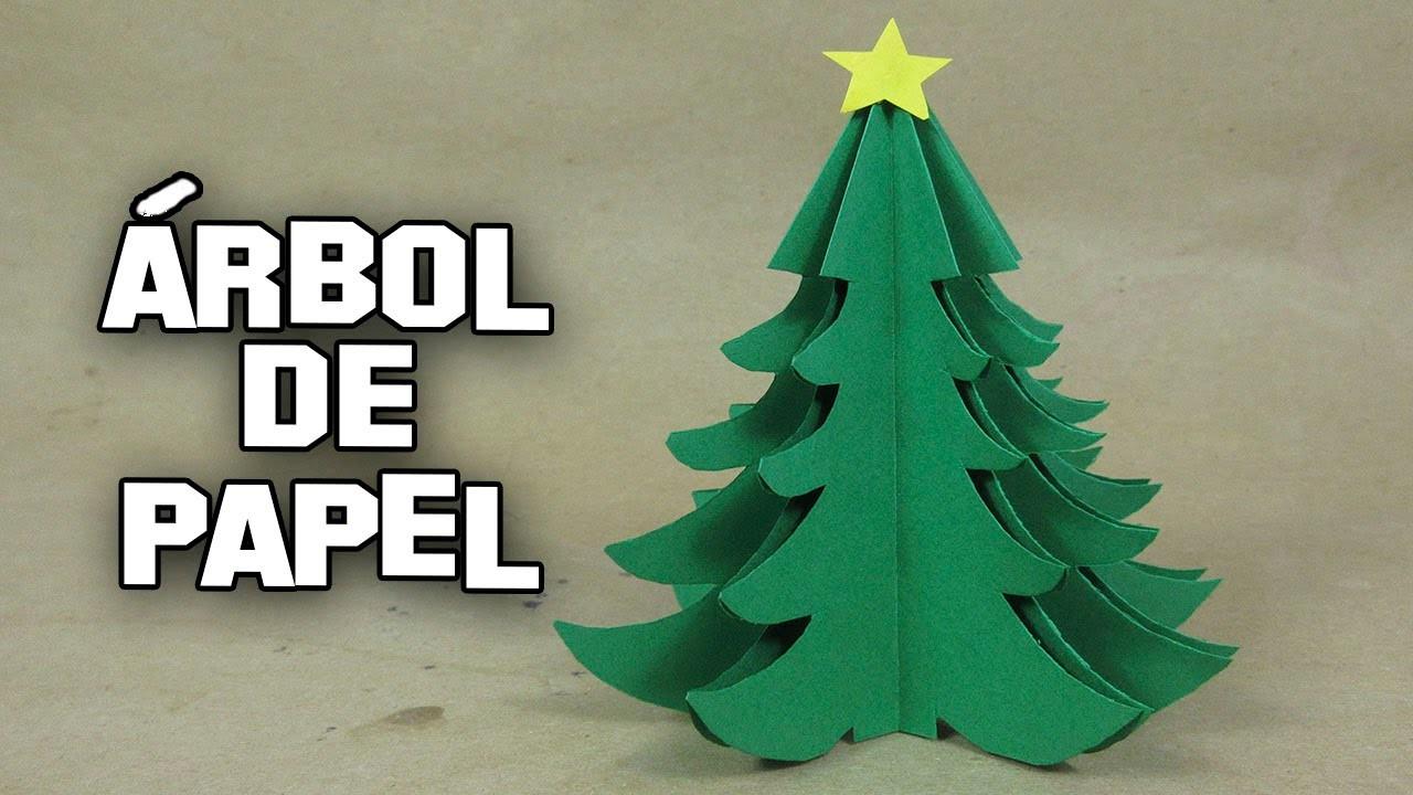 Como hacer un rbol de navidad de papel paso a paso how to - Tutorial arbol de navidad ...