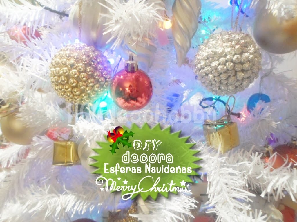 2 DIY haz tus esferas navideñas. ideas para decorar tu árbol de navidad